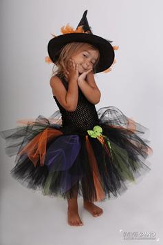 Robe de sorcière colorée - Costume d'Halloween