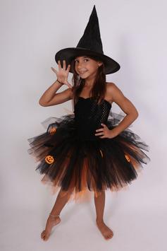 Robe tutu de sorcière Orange - Costume Hallowenn