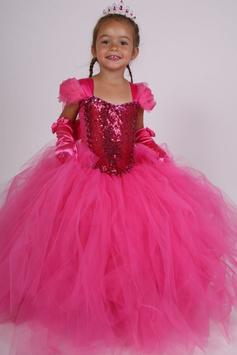 Robe de princesse Léa en tulle fuchsia