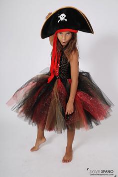 Robe tutu de pirate Rouge - Costume Enfant