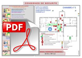 Consigne ou plan de chambre sur support PDF ou DWG