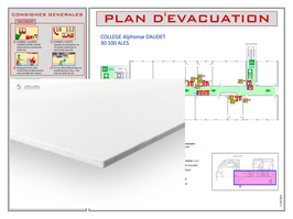 Plan d'évacuation ou d'intervention en panneau PVC 5 mm