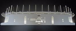 Stadion-Hamburg Wandbild mit LED-Beleuchtung 100 cm