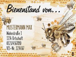 """Bienenstandtafel """"beschriftet"""" mit oder ohne Kärntner Bär"""