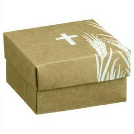 Geschenkschachtel für Kommunion/Konfirmation Natur, 5 Stück