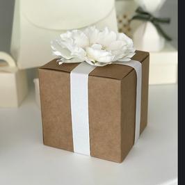 Würfel Geschenkschachtel 9x9 cm, Kraftkarton; 10 Stück