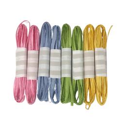Raffia Sortiment verschiedene Farben - 8 Stück