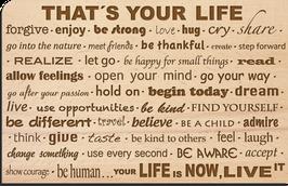 "Holz Postkarte ""LIFE"""
