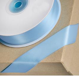 Satinband Pastel Blau  10mm, 5 Meter