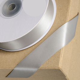 Satinband silber 38 mm, 5 Meter