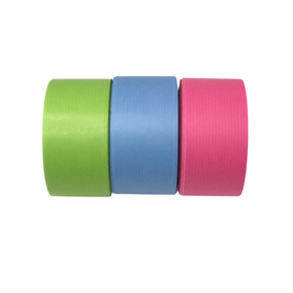 Geschenkband aus recycelbarem Papier 40mm blau - 50 Meter