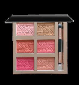 NEU: Face Palette mit 6 Farben (Rouge, Bronzer, Highlighter)