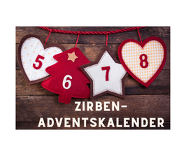 Zirben-Adventskalender klein