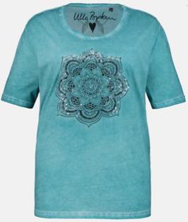 Dyed Washed Shirt mit großen Mandala aus transparenten Pailletten, Gr. 66/68 NEU & OVP