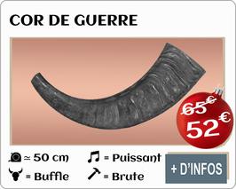 Cor de guerre en buffle brute 50cm