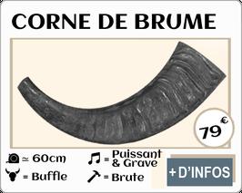 Corne de brume en buffle brute 60cm