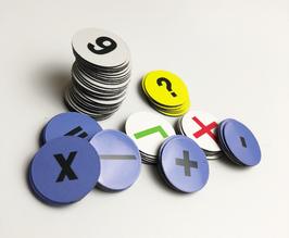 70 Zahlen Magnete für Whiteboards | Ø 2,5cm