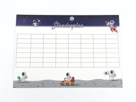 Astronauten Stundenplan A4 300gr/m2 - 3er Set