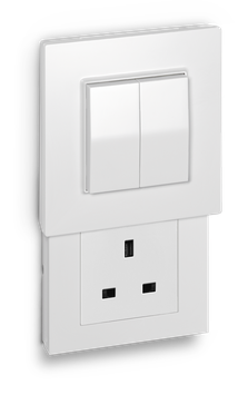 Hidden Socket type G with Friends of Hue switch
