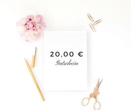 20,00 € Gutschein bei kreador zum Selbstausdrucken