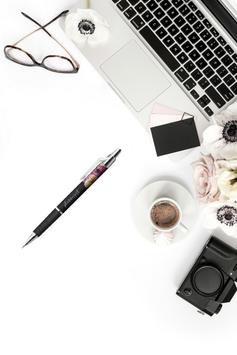 plannergirl Kugelschreiber schwarz/pink