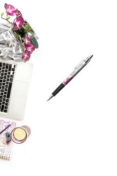 Hello Lovely Kugelschreiber weiß/rosa