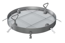 Schachtabdeckung rund für wählbarer Oberfläche