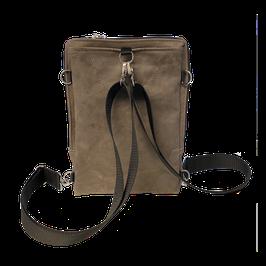 JaMia® Rucksack 4-BOY BP braun, schwarz + silber