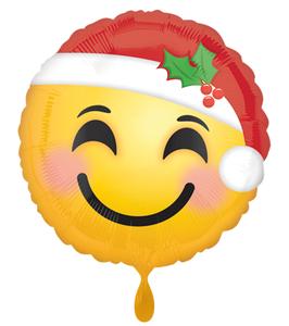 """Santa Hat Emoticon Folien Ballon 18"""""""