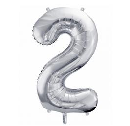 Folienballon XXL - Zahl - Silber
