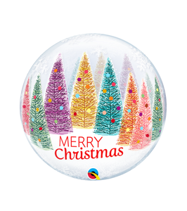 Christmas Trees & Snowflakes Single Bubble 22in/55cm