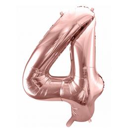 Folienballon XXL - Zahl - Rosa Gold