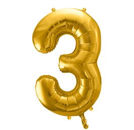 Folienballon XXL - Zahl - Gold