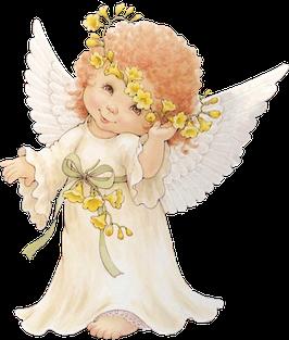 Ангел с желтыми цветами (АП-3)