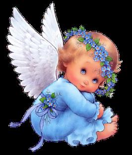 Ангелочек на облаке (без фона) (АП-1.2.)