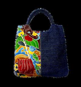久留米絣のバッグ