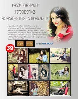 Gutschein für ein Beauty-Fotoshooting