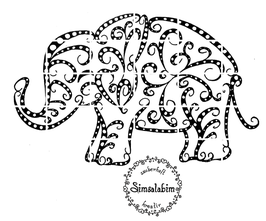 Plottdatei Elefant Zendoodle