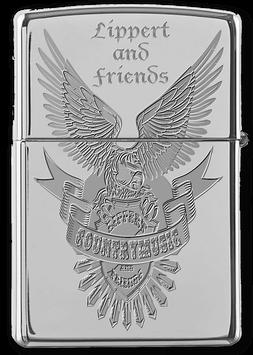 "Original Zippo Feuerzeug mit Logo ""Lippert & Friends"""