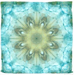 """Kissen """"Kaleidoskop aqua"""""""