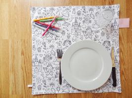 """GRAND SET DE TABLE ENFANT/BÉBÉ """"Princesse"""""""