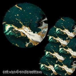 Onderzetters Marmer Smaragd