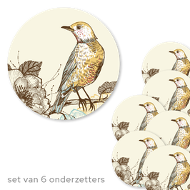 Onderzetters Bird