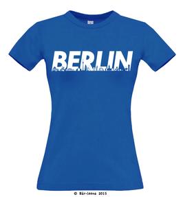 Berlin T-Shirt · blau · Frauenschnitt