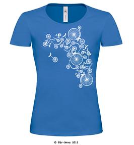 Fahrradturm T-shirt · royalblau · Frauenschnitt