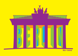 Berlin Brandenburger Tor Postkarte