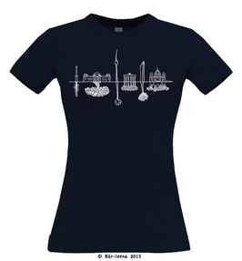 Berlin Skyline T-Shirt · navy · Frauenschnitt