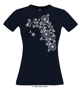 Fahrradturm T-shirt · navy · Frauenschnitt