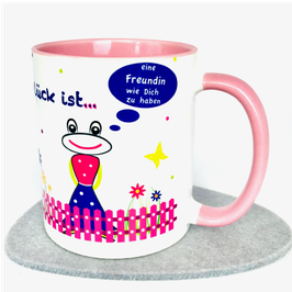 Glück ist ... eine Freundin wie Dich zu haben Tasse rosa