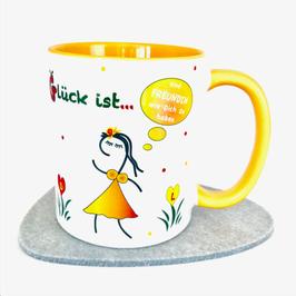 Tasse für die beste Freundin sonnengelb